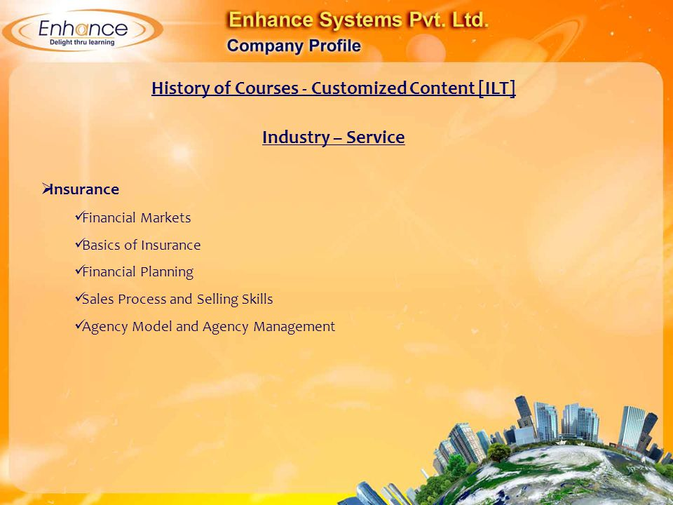 History of Courses - Customized Content [ILT]
